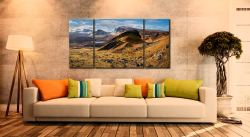 Quiraing Boulder Field - 3 Panel Wide Centre Canvas on Wall