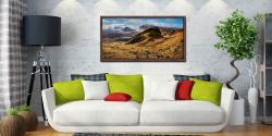 Quiraing Boulder Field - Walnut floater frame with acrylic glazing on Wall
