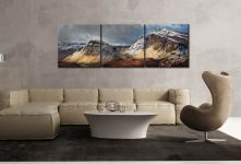 Winter Storm Quiraing - 3 Panel Canvas on Wall