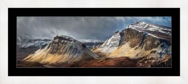 Winter Storm Quiraing - Framed Print with Mount
