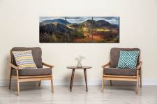 Haystacks High Crag High Stile - 3 Panel Canvas on Wall