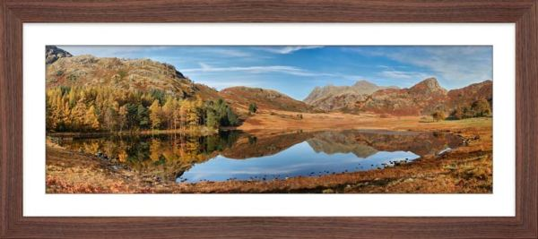 Blea Tarn Autumn Panorama - Framed Print with Mount