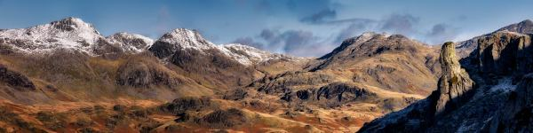 Eskdale Needle and Scafell Panorama - UltraHD Print with Aluminium Backing