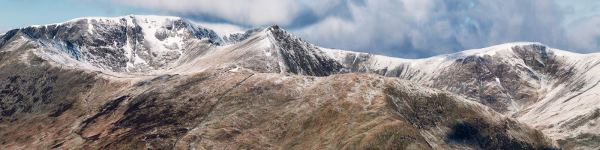 Helvellyn Mountains Panorama - UltraHD Print with Aluminium Backing