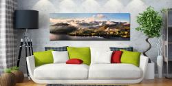 Ullswater Clouds Panorama - UltraHD Print with Aluminium Backing on Wall