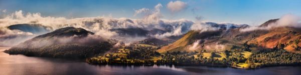 Ullswater Clouds and Mists - UltraHD Print with Aluminium Backing