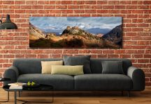 Castle Crag and Snowy Skiddaw - UltraHD Print with Aluminium Backing on Wall
