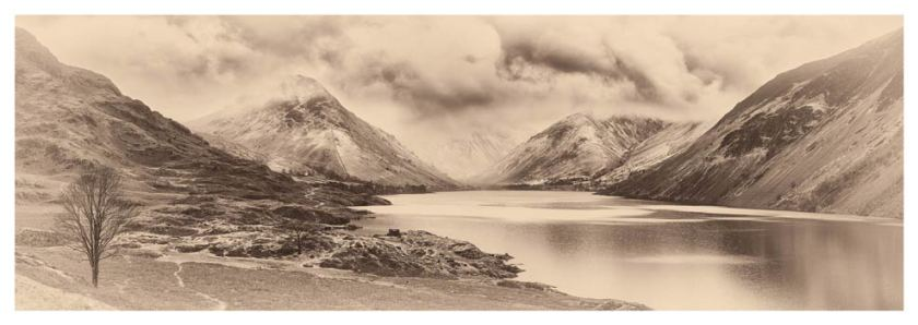 Dark Skies Over Wast Water - Sepia BW Print