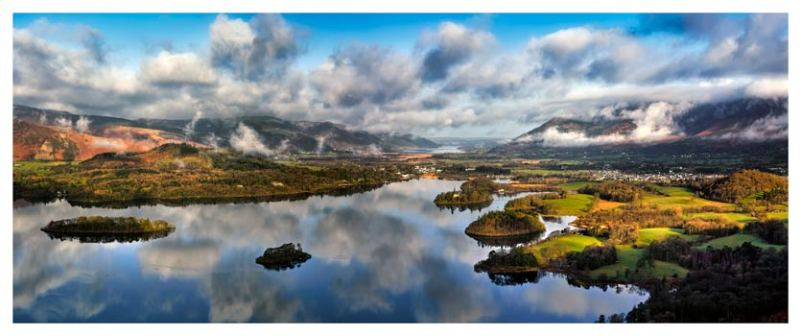 Dawn Clouds Derwent Water - Lake District Print