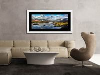 Dawn Clouds Derwent Water - Framed Print with Mount on Wall