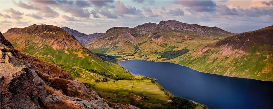 Yewbarrow and Scafell - Canvas Print