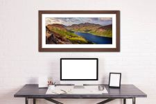 Yewbarrow and Scafell - Framed Print with Mount on Wall