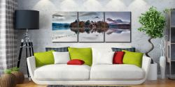 Derwent Isle Rising Mists - 3 Panel Canvas on Wall