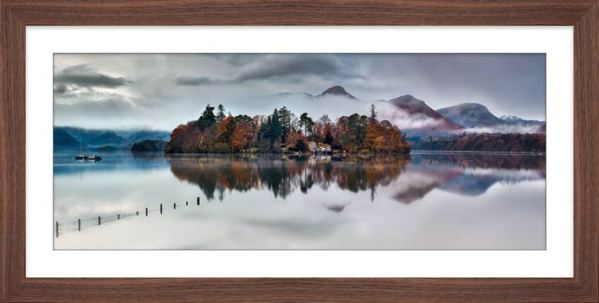 Derwent Isle Rising Mists - Framed Print with Mount