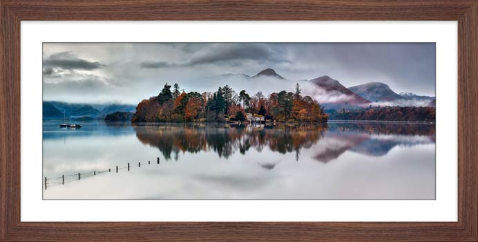 Derwent Isle Rising Mists - Framed Print