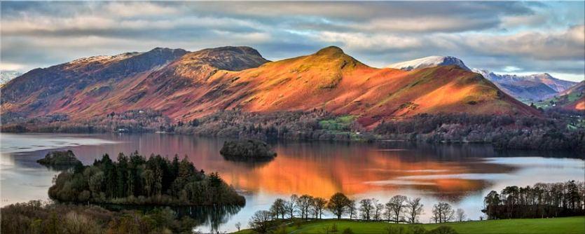 Cat Bells Sunlight - Lake District Canvas