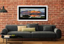 Cat Bells Sunlight - Framed Print with Mount on Wall