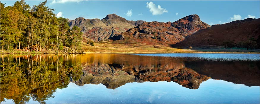 Blea Tarn Blue Skies - Canvas Print