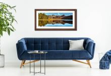 Blea Tarn Blue Skies - Framed Print with Mount on Wall