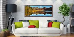 Beautiful summer's day at Blea Tarn in Langdale - Walnut floater frame with acrylic glazing on Wall
