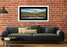 Elterwater Summer - Framed Print with Mount on Wall