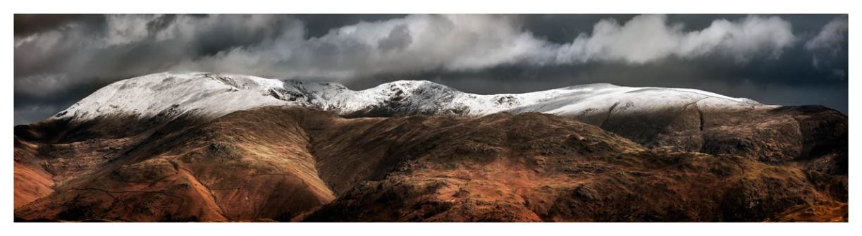 Fairfield Winter Panorama - Lake District Print