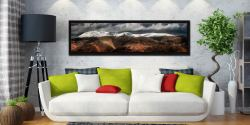 Fairfield Winter Panorama - Black oak floater frame with acrylic glazing on Wall