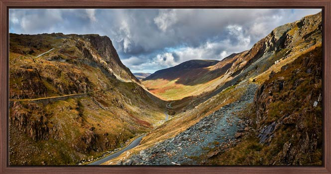 The Honister Pass - Walnut floater frame with acrylic glazing