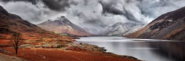 Dark Skies Over Wast Water - UltraHD Print with Aluminium Backing