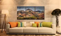 Harrison Stickle Pavey Ark - 3 Panel Canvas on Wall