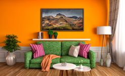Harrison Stickle Pavey Ark - Walnut floater frame with acrylic glazing on Wall