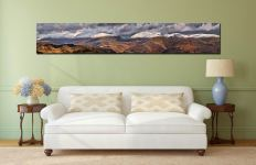Snow Capped Mountains Panorama Canvas on Wall