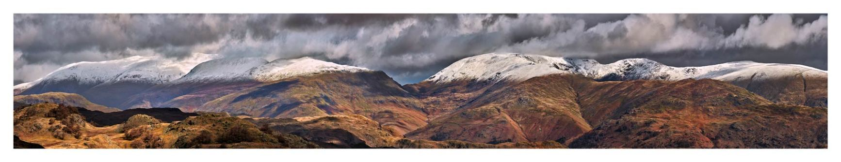 Snow Capped Mountains Panorama - Lake District Print