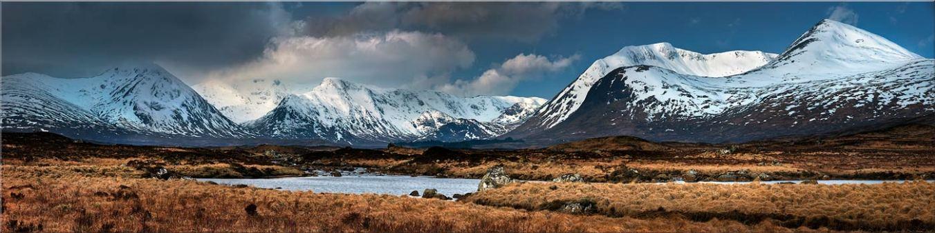 Rannoch Moor Winter Panorama - Canvas Prints