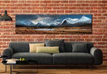 Rannock Moor Winter Panorama - Scotland Canvas on Wall