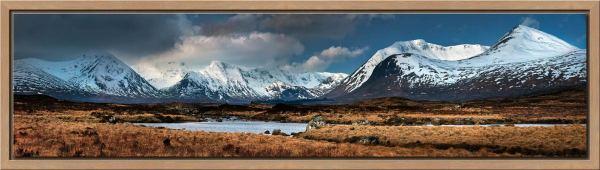 Rannoch Moor Winter Panorama - Modern Print