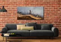 Misty Old Man Storr - Canvas Print on Wall