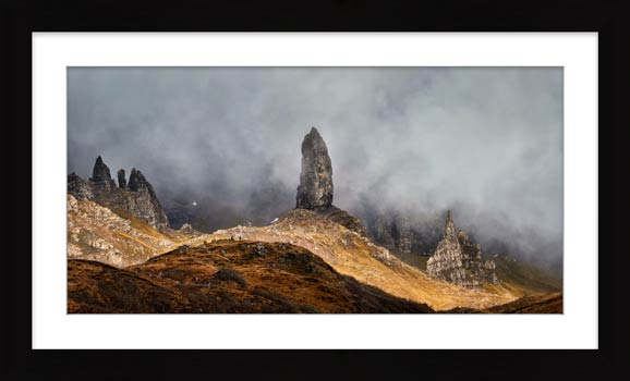 Misty Old Man Storr - Framed Print