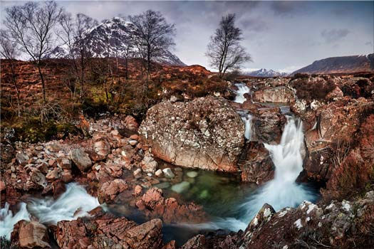 Coupall Falls Glencoe - Scotland Canvas