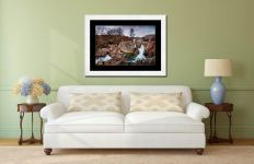 Coupall Falls Glencoe - Framed Print with Mount on Wall