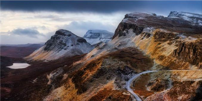Sunshine and Snow on the Quiraing - Canvas Print