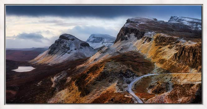 Sunshine and Snow on the Quiraing - Modern Print