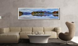 Derwent Water Tranquility - White Maple floater frame with acrylic glazing on Wall