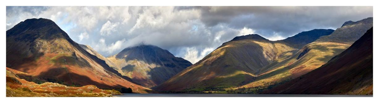 Sunlight on Wasdale Mountains - Lake District Print