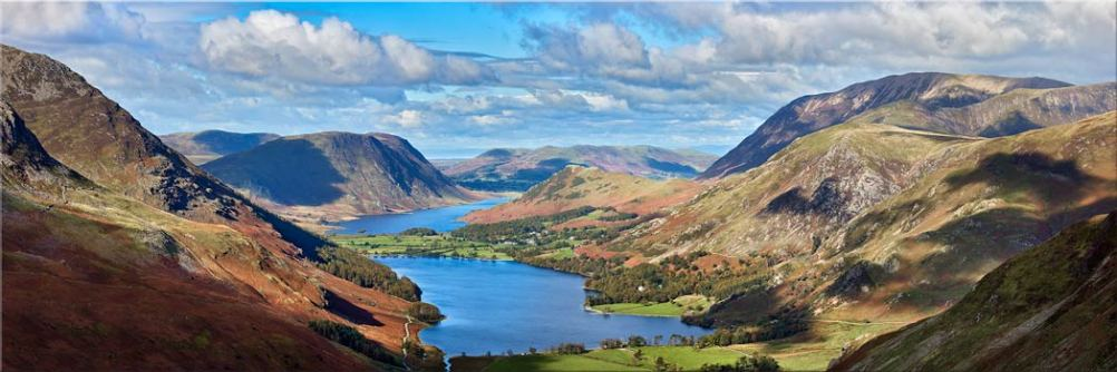 Buttermere Valley from Haystacks - Canvas Print