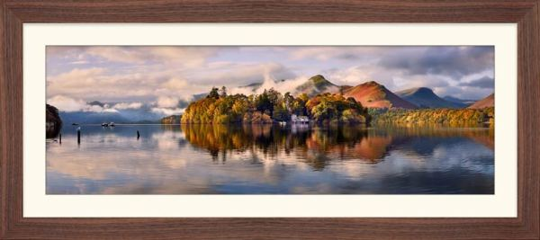 Rising Mists Derwent Water - Framed Print with Mount