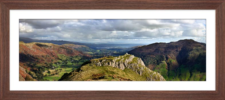 Pike Howe in Great Langdale - Framed Print with Mount