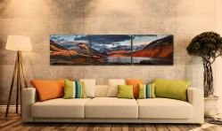 Winter Sun Over Wast Water - UltraHD Print with Aluminium Backing on Wall