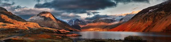 Winter Sun Over Wast Water - UltraHD Print with Aluminium Backing