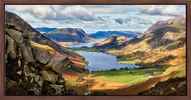 Hanging Rock Buttermere Valley - Modern Print